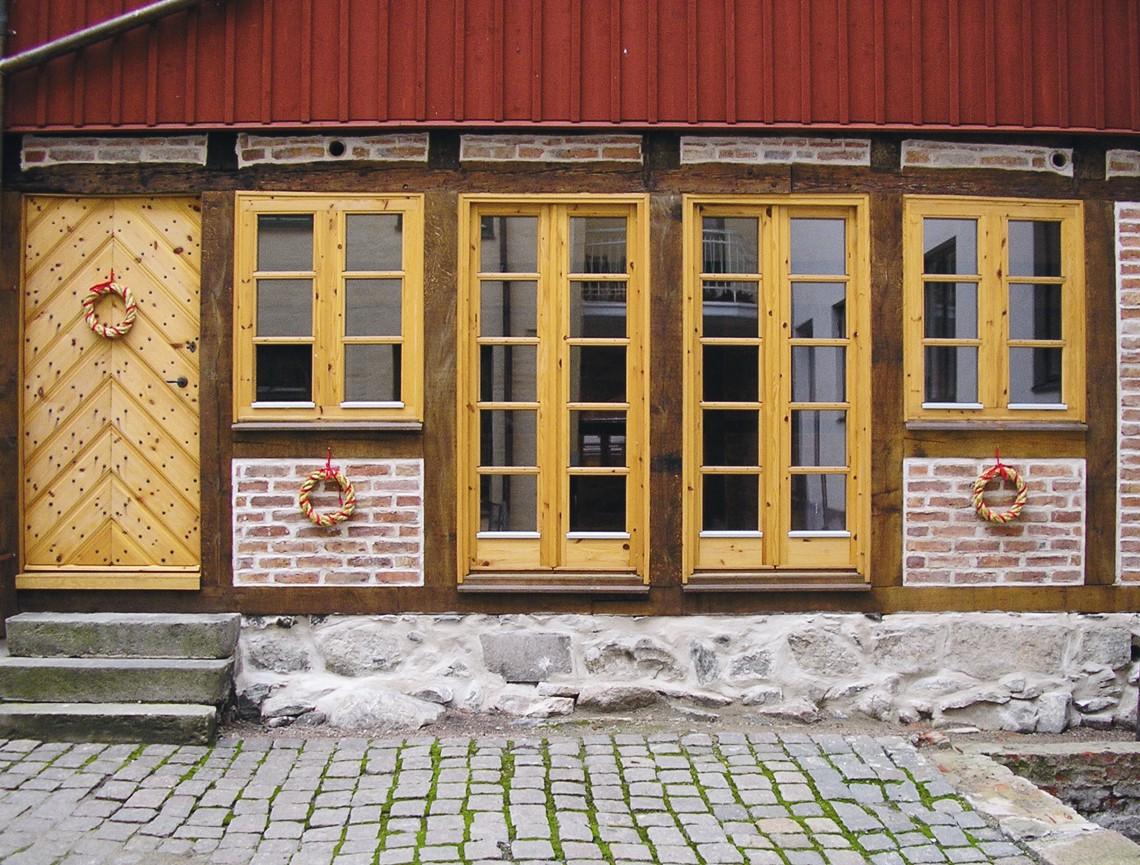 Exteriör till kontor på innergård till Östra Storgatan, Kristianstad.