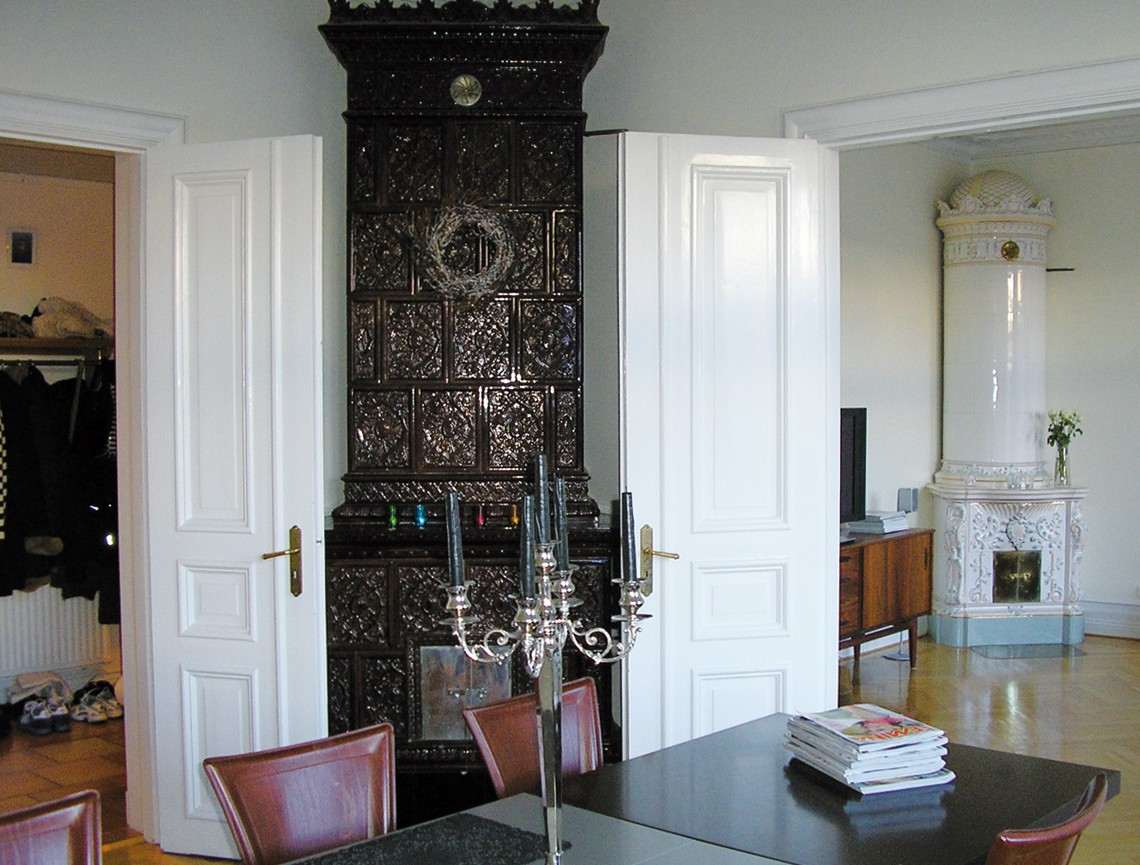 Interiör från en av lägenheterna i Gauffinska Gården.